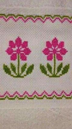 Cross Stitch Gallery, Cross Stitch Borders, Cross Stitch Flowers, Cross Stitch Designs, Cross Stitching, Cross Stitch Embroidery, Cross Stitch Patterns, Crochet Patterns, Linen Napkins