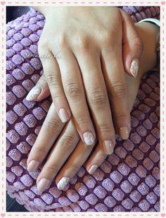 Faith wedding nails | Gel & classic mani+pedi nail design-hand painted ...