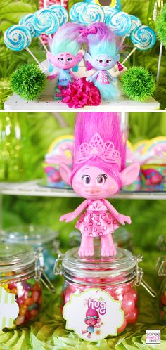 Trolls party ideas - Trolls Candy table