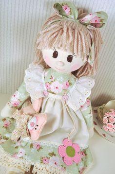Patrón de muñeca de trapo de Holly
