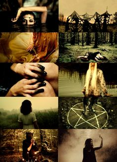 swamp witch: she exists in the southern mud and cypress roots. she boils the blood of crocodiles and muskrats and her fingers are singed with swamp gas and moist wood fires. her god is the mist and the murk and the gloom trails from her like a bride's train dipped in mud.