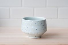 products we like / Cup / White / Blue Dots / Edgy / at IndustrialDesigners.co |  Tiffany Tang  - Tea Cup