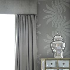 West London Master Suite by Sophie Paterson Interiors Grey Bedroom Decor, Living Room Decor Cozy, Living Room Grey, Dream Bedroom, Bedroom Ideas, Interior Design London, Luxury Interior Design, Monochromatic Living Room, Unique Curtains