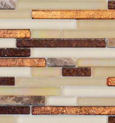 Let your artistic abilities come to life with our Copper Glass Tile. Order your glass tile from Schilling today. Free Shipping!