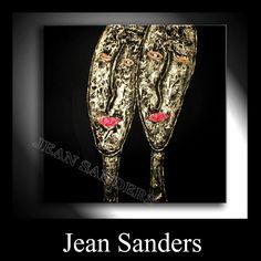 "Jean Sanders  ""FRIENDS""  90 x 90 x 4cm  Material:  Acrylfarben, Schlussfirnis, Strukturmaterial"
