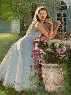 15 Beautiful Oil Paintings by China Artist An He Romantic Paintings, Beautiful Paintings, Woman Painting, Figure Painting, Images Esthétiques, Creation Art, Art Pictures, Photos, Figurative Art