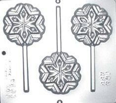 Snowflake Lollipop Chocolate Candy Mold by CandyMoldsNMore on Etsy, $2.40