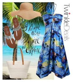 """""""Summer Ocean Style"""" by laurabosch on Polyvore featuring Old Navy and Chico's"""