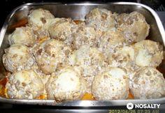 Darált húsos-sajtos sült rizsgolyók Potato Salad, Cauliflower, Potatoes, Vegetables, Ethnic Recipes, Food, Head Of Cauliflower, Potato, Veggies