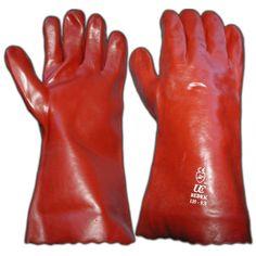 "PVC Open Cuff Gloves, 14"""