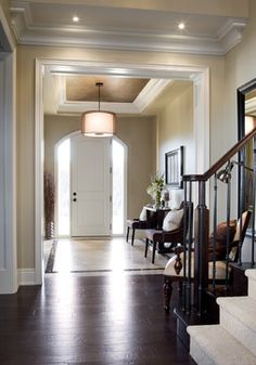 """Benjamin Moore Color...""""bennington gray."""" A gray-beige that is truly neutral and will blossom in natural light:)"""
