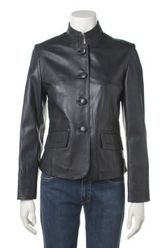 Womens leather jacket custom made style 1075NL image