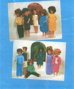 Fashion Doll Clothes Knitting Pattern Book 12 Outfits PDF INSTANT DOWNLOAD