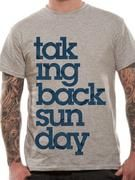 Officially licensed Taking Back Sunday t-shirt design printed on a 100% cotton short sleeved T-shirt.