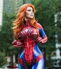 "cosplay-galaxy: ""[Self] Jenna Lynn Meowri as Mary Jane (Spidersuit Ver.) JennaLynnMeowri "" 🔥 The hottest cosplay around! Belle Cosplay, Cosplay Girls, Marvel Cosplay, Cosplay Anime, Spiderman Cosplay, Jenna Lynn, Spider Girl, Amazing Cosplay, The Villain"