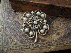 Four Leaf Clover Brooch at Tons of Treasures in Laguna Niguel