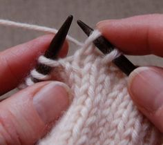 Knitting Tutorial - Excellent photos and text of the slip-slip-knit (ssk) decrease. I often slip-knit-passover or knit 2 together through the back of the stitches, but sometimes ssk is just the ticket! Check this out :>) at purlbee.com