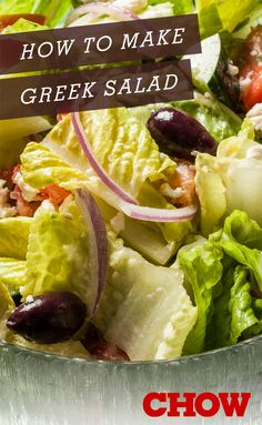 Delicious and filling salad recipes | How to make Greek salad