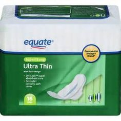 Walmart: Equate Ultra Thin Pads only $.97 (or FREE Pantiliners) COUPON RESET!
