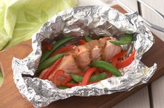 Grilled Salmon Packets Made this using shrimp instead of salmon.  Quick, easy, tasty (e 6/15/13)