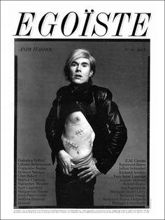 EGOISTE N°10 - Andy Warhol by Richard Avedon