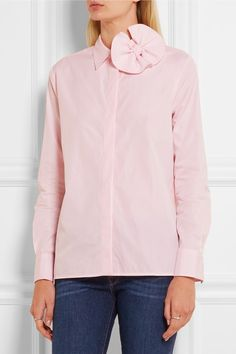 Pastel-pink cotton-poplin Partially concealed button fastenings through front 100% cotton Dry clean Designer color: Pale Candy