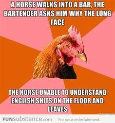 Horse walks into a bar anti-joke