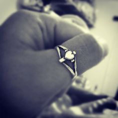 To symbolize your devotion, love, and faith. Cross with Heart Ring #jamesavery