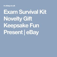 Exam Survival Kit Novelty Gift Keepsake Fun Present  | eBay