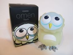 Mini Omen in GID colorway, by Coarse Toys, sofubi vinyl