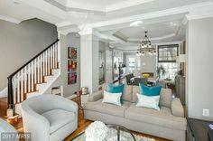 House, Home, Corner House, New Homes, Open Plan Living Room, House Interior, Contemporary Living Room Design, Open Plan Living, Living Room Designs