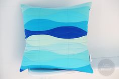 Design team member @Amy Friend created this gorgeous pillow for our blog (http://sizzixblog.blogspot.com/2012/08/seaglass-waves.html) using the Bottle die from our quilting collection.