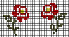 Risultati immagini per schemi fiori punto croce