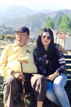 Aprajita and grand pa