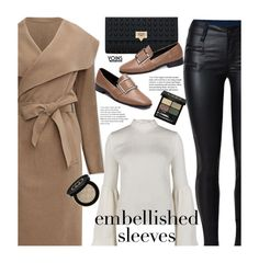 """""""Make a Statement: Embellished Sleeves"""" by beebeely-look ❤ liked on Polyvore featuring Rejina Pyo, Gucci, StreetStyle, streetwear, camelcoat, yoinscollection and embellishedsleeves"""
