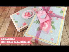 Miniálbum con caja para regalo. Tutorial Scrapbooking fácil. - YouTube