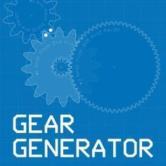 Gear Generator is a tool for creating involute spur gears and download them in SVG format. In addition it let you compose full gear layouts with connetcted gears to design multiple gears system with control of the input/output ratio and rotation speed. Gears can be animated with various speed to demonstrate working mechanism