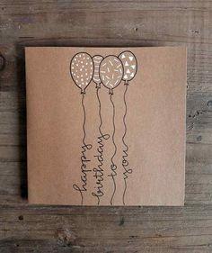 Happy Birthday Cards Handmade, Happy Birthday Signs, Diy Birthday, Creative Gift Wrapping, Creative Gifts, Cute Cards, Diy Cards, Birthday Card Drawing, Envelope Art