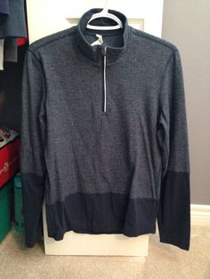 Lululemon Blue Herringbone Half Zip