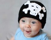 12 mos-3 years months Skull and Crossbones Hat Photography Prop  LOOK AT THAT FACE!!