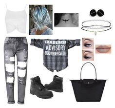 """""""Sorry Not Sorry"""" by asiyabarak ❤ liked on Polyvore featuring Topshop, Timberland, Longchamp and Jeffree Star"""