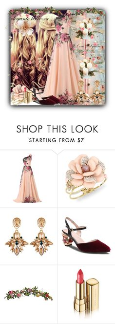 """""""Untitled #147"""" by d-tuma ❤ liked on Polyvore featuring CO, Betsey Johnson, WithChic, Nearly Natural and Dolce&Gabbana"""