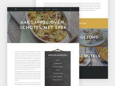 Foodblog (web)design