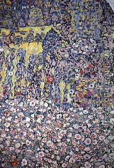 Garden On The Hill - Gustav Klimt