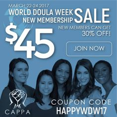 #WDW #worlddoulaweek #doulasbenefiteveryone  CAPPA New Member Sale March 22-24, 2017 Doula, March, Coding, Movie Posters, Film Posters, Billboard, Mac, Programming, Mars