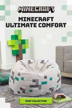 Minecraft Bedding & Room Decor Minecraft Bedding & Room Decor Craft a cozy base with this Minecraft inspired beanbag and explore other Minecraft bedroom décor from Pottery Barn Kids! Boys Minecraft Bedroom, Minecraft Bedding, Minecraft Room Decor, Boys Bedroom Decor, Bedroom Décor, Bedding Decor, Bedroom Ideas, Gamer Room, Tim Mcgraw