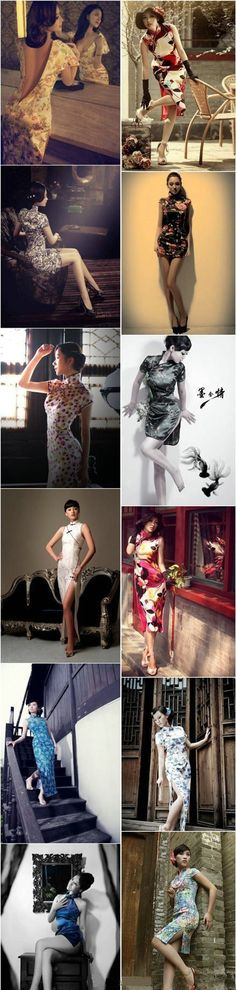Chinese dress Qipao - I love all of these!