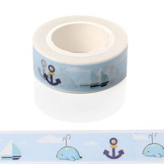 1 Pc / Pack Ocean Sea Dolphin Washi Paper Masking Tape Scrapbooking Tapes Gift Wrapping Sticker Diy Stickers Decals