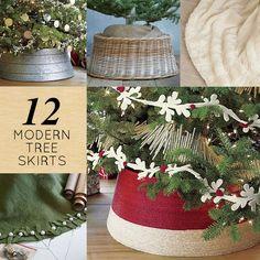 12 Modern Christmas Tree Skirts - Design*Sponge