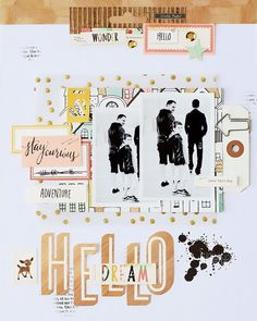 #papercrafting #scrapbook #layout idea